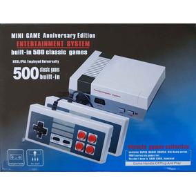 Console Retrô Nes Mini 2 Controles 500 Jogos Novo