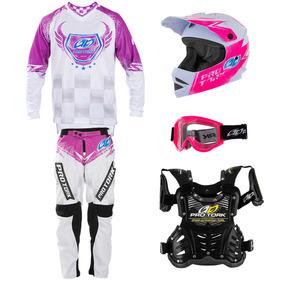Kit Motocross 5 Itens Infantil Insane 5 Trilha Enduro