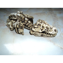 Adorno Para Acuario Con Forma De Esqueleto De Dinosaurio