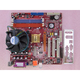 Mother Pc-chips P23g 775 Ddr2 + Micro Dual-core En Quilmes!