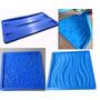Molde De Silicone Para Fabricar Placas Gesso - Kit Com 4unid