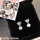 Aros Diamante En Gotas,cristales Swarosvki Elements Plata925