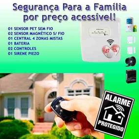 Kit Alarme Seguranca Residencial Casa Comercial Sem Fio