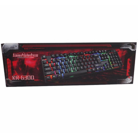 Teclado Usb Luces Kr-6300 Gaming Pc Escritorio