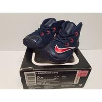 Nike Lebron Xlll Midnight Navy Para Bebe Talla 8cm- 2c Us