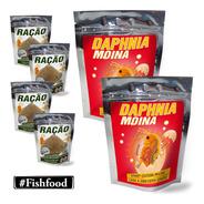 Pacote De 2x Daphnia Moina + 4x Ração