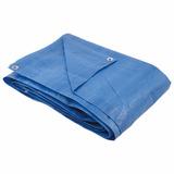 Lona Polietileno 8x6 Disma Impermeável Camping Piscina Azul