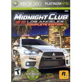 Midnight Club Los Angeles Comp E Xbox 360 Acepto Cambios Gxa