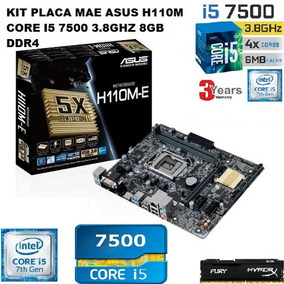 Kit Placa Mae Asus H110m Core I5 7500 8gb Ddr4 Testado