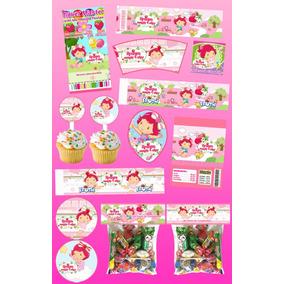 Kit Imprimible Rosita Fresita Bebe Personalizado 30 Etiqueta