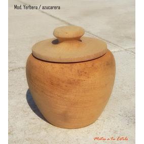 Set Yerbera + Azucarera De Madera Algarrobo Virgen