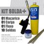 Kit P/ Refrigeração - Maçarico 2200° + Mapp + Solda Foscoper