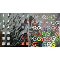 Lote 108 Expansores Tunel Plug Espirales Acrilico Colores