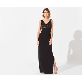 Vestido Markova Janelle Largo De Microfibra Con Lentejuelas