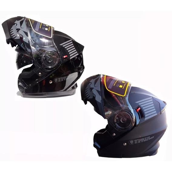 Casco Rebatible Doble Visor Punto Extremo Xr 650 Fas Motos