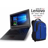 Laptop Lenovo Core I3 6006u 14 Pulgadas 8ram 500gb + Mochila