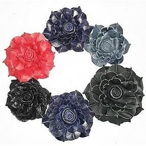 Flores De Cuero Apliques Para Zapatos Abrigos Bolsos Vinchas