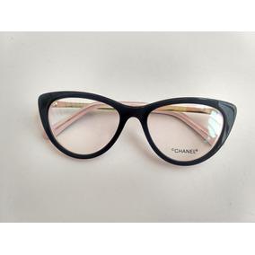 Armacao Oculos Feminino Chanel Gatinho - Óculos no Mercado Livre Brasil 3e9874ae86