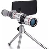 Lente Zoom Óptico De 12x Telescopio Universal De Clip Iphone