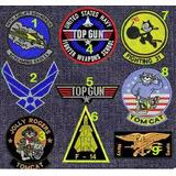 Topgun Parches Bordados Aviador Militares Vuelo Top Gun