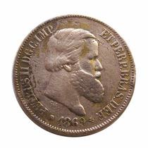 Moeda Império Bronze 20 Reis 1869 D Pedro I I