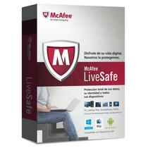 Antivirus Mcafee Livesafe 1 Año Pc Tablets Mac Ios Android