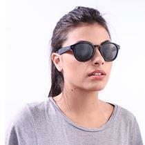 Óculos De Sol Polaroid Retrô Preto