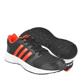 Tenis Deportivos adidas Hombre Textil Negro-naranja Aw5261