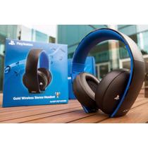 Headset Gold Wireless Stereo 7.1 Sony, Ps4, Ps3 E Ps Vita