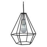 Lámpara Colgante Venzar Línea Diamante En Hierro 1 Luz Mod 9
