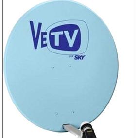 Antena Satelital Azul Vetv Nueva Completa