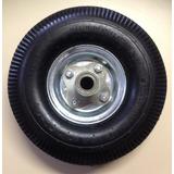 Roda Alumínio 350x4 Para Carrinhos Carga Com Pneu E Câmara