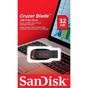 Pen Drive 32gb Sandisk Cruzer Blade 32 Gb Novo Lacrado