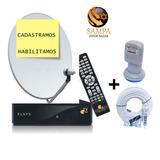 Kit Oi Tv Livre Hd 35/37 Cadastramos, Habilitamos/gratis