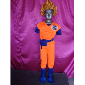 Disfraz Son Goku Dragon Ball Peluca Incluida Tallas 12 Y 14.