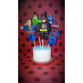 Lego Avenger Porcelana Fria Adorno P/ Torta