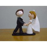 Centro De Torta Casamiento Novios Bailando Porcelana Fría