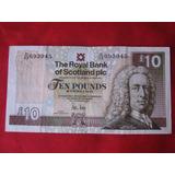 Escocia,banco Real De Escocia 10 Libras 30 Noviembre 2010
