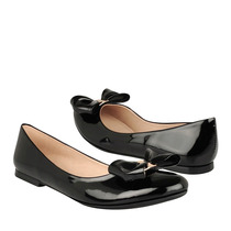 Caramel Zapatos Dama Casuales P-176 Charol Negro