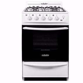 Cocina A Gas Eskabe Blanca E2 52cm Con Encendido Horno