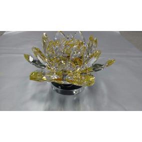 Kit 3 Flores De Lótus Cristal Enfeite De Vidro Decoração