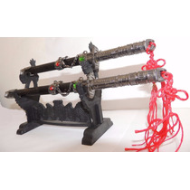 Kit Mini Espada Samurai Katana Com Suporte