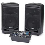 Set De Amplificación Portable Samson Xp800, Con Bluetooth