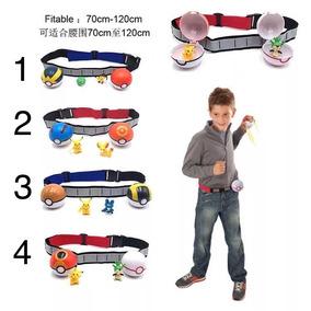 Set Pokebolas Cinturon Y Figuras Pokemones