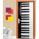 Adesivo Parede Decorativo Porta Musical Rock Notas Ultra-hd
