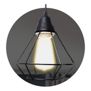 Lampara Colgante Led Jaula Negro E27 Techo Iluminacion Full