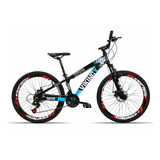 Bicicleta Aro 26 Vikingx X25 21 V Index Freio A Disco Azul