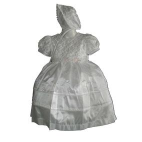 Exclusivo Ropon Vestido Bordado Pedreria Niña Bautismo