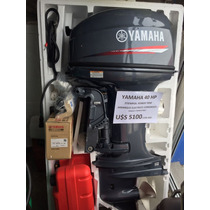 Motor Yamaha 40 Hp Con Comandos Y Power Trim