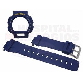 Kit Capa Pulseira Casio Dw-9052 Dw-9000 Dw-9051 G-shock Azul